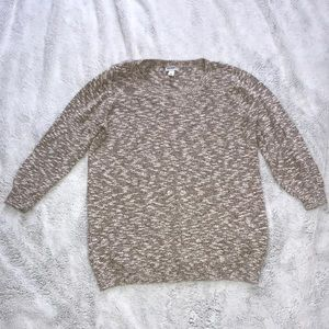 Old Navy Tan Heather Crew Neck Sweater